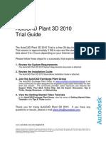 Autocad Plant 3d 2010 - Trial Guide