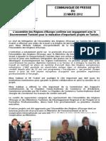 Communiqu+® de Presse - Assembl+®e des R+®gions d'Europe