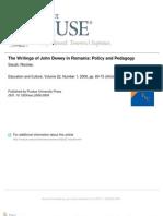 Dewey Romania Pedagogy