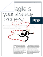 How Agile is Your Strategy Process