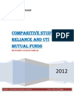 Comparitive Study of Reliance Mutual Funds and Uti Mutual Funds