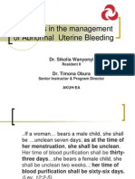 Recent Advances in the Management of AUB