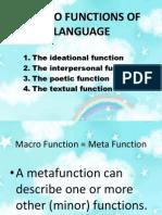 Macro Functions of Language