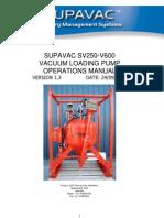 SV250V 600 Operations Manual V1.3