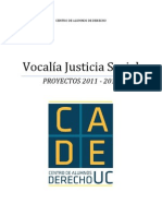 PROYECTOS VOCALÍA JUSTICIA SOCIAL CADE UC -