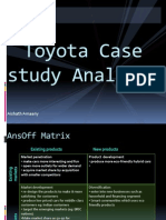 toyota case analysis Toyota motor corporation adopts two-cad strategy with catia v5 from dassault systèmes and creo parametric analysis, production case study.