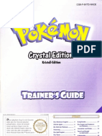 Pokémon Kristall Edition Trainer's Guide - Anleitung