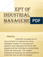 Concept of Industrial Management