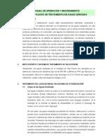 Manual de Operación y Mantenimiento PTAR