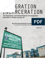 Immigration Incarceration 2012 - Immigrants Held in Essex County, NJ and Facing Deportation