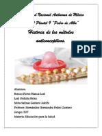 Trabajo de Salud de Metodos Anticonceptivos