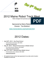 2012 Maine Robot Track Meet Outline