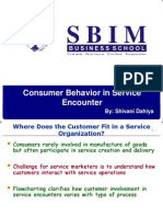 Consumer Behaviour in Service Encounter