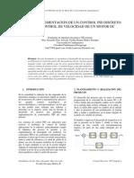 Diseño E Implementación De Un Control PID Discreto Para El Control De Velocidad De Un Motor DC