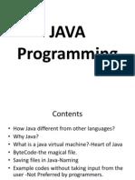 Java 1 Ppt