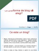 Ce platforma de blog să alegi