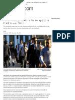 UAE Labor Law 2011