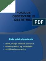 Foaia de observatie in obstetrică