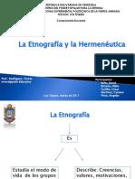 Diapositivas de La Etnografia y Hermeneutica