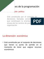 Dimensiones de la programación