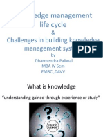 Knowledge Management Life Cycle & Challenges in Building Knowledge Management System
