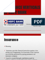 Presentation Insurance Verticals of Hdfc Bank