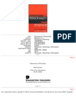 Eysenck 1998 - Dimensions of Personality
