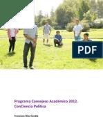 Programa Consejero Académico 2012