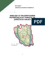 Analiza Si Valorificarea Potentialului Turistic Al Judetului Galati