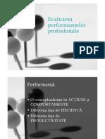 Curs 6-7 Evaluarea Performantei