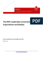 The NDP Leadership Convention