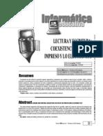 Lectura y escritua -coexistencia entre lo impreso y lo electrónico