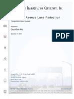 California Avenue (Palo Alto, CA) Traffic Study (2011)
