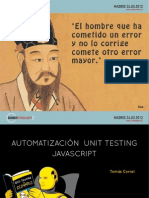 Automatizacion Unit Testing Javascript