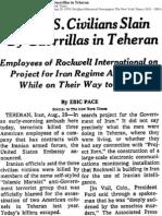 NYTimes 1976- Most MEK leadership & members were imprisoned by Shah when Americans were slain