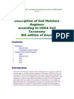 Soil Moisture Regimes