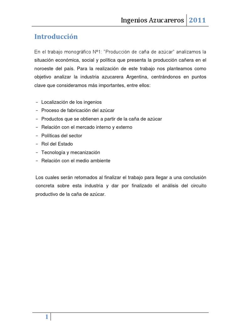 Circuito Productivo De La Caña De Azucar : Ingenios azucareros