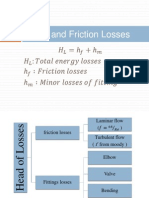 Friction and Minor Losses