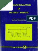 Capitulo 1 Balances de Materia y Energía, Dr. Antonio Valiente