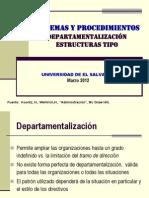 Departamentalizaci�n Estructuras Tipo