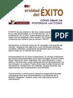 La Universidad Del EXITO, Como Dejar de Postergar Las Cosas (OG Mandino)