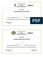 Final Certificates