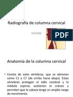 Radiografía de columna cervical