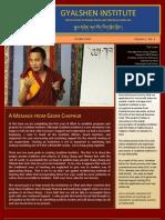 Gyalshen Newsletter Losar 2012