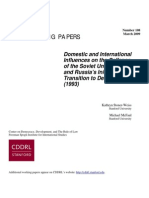 Domestic and International Influences on Collapse of USSR