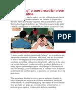 El Bullying en Argentina.