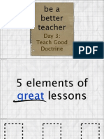Day 3 - Teach Good Doctrine