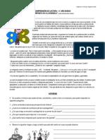 COMPRENSIÓN DE LECTURA- PRIMER DÍA DE CLASES