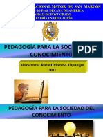 Pedagogia Para La Sociedad Del Conocimiento
