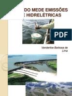 ESTUDO MEDE EMISSÕES DE HIDRELÉTRICAS